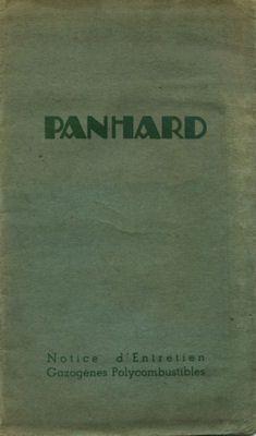 Panhard TCA Gaserzeuger Bedienungsanleitung ca. 1945