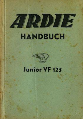 Ardie Junior 125 Bedienungsanleitung ca. 1939