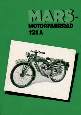 Mars Motorfahrrad 121 A Prospekt 1937