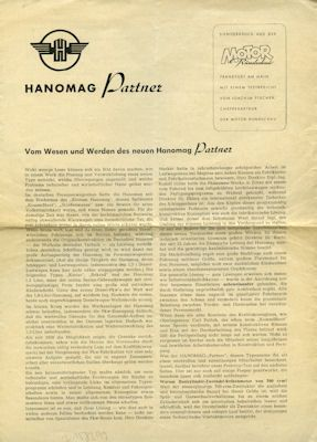 Hanomag Partner Test 8.1951