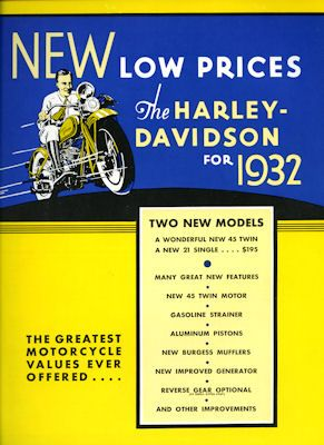Harley-Davidson Programm 1932