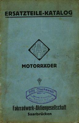 TAS 499 ccm Ersatzteilliste 1924-1926