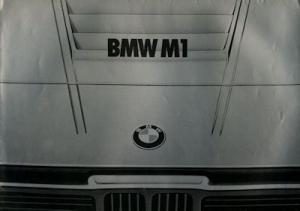 BMW M 1 Prospekt 2.1978 holl.