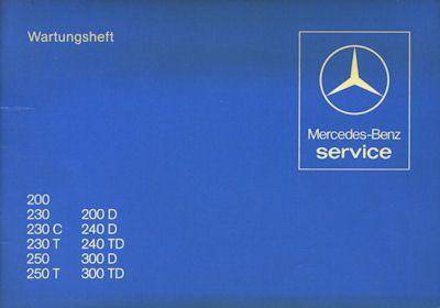 Mercedes-Benz 200-300 TD Wartungsheft 1979