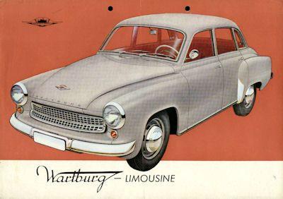 Wartburg 311 Limousine Prospekt 1959