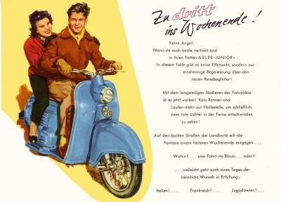 Adler roller junior prospekt 1950er jahre nr adl m5545 for Roller küchen prospekt