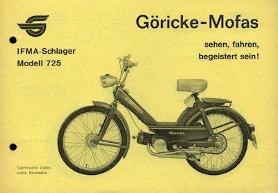 Göricke Mofa Programm ca. 1968