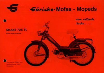 Göricke Mofa Programm ca. 1972