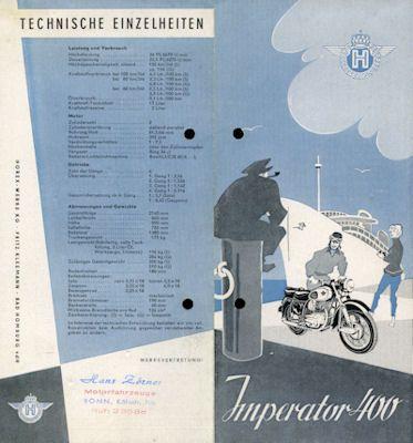 Horex Imperator 400 Prospekt ca. 1955