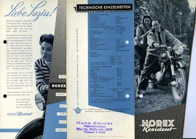Horex Resident Prospekt 1955