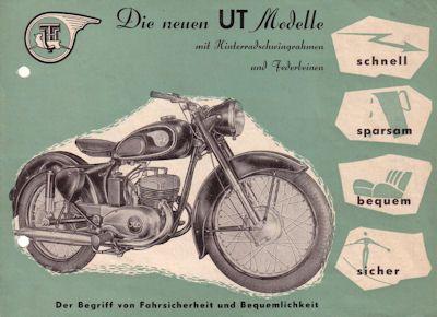 UT TS Modelle Prospekt 1953