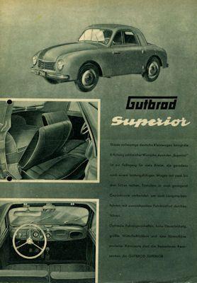Gutbrod Programm 1950er Jahre