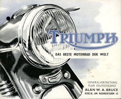 Triumph Prospekt 1960er Jahre