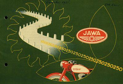 Jawa 250 ccm Prospekt 1951