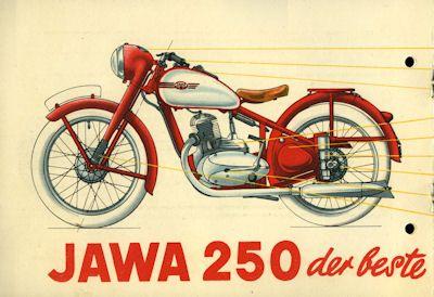 Jawa 250 ccm Prospekt 1951 1