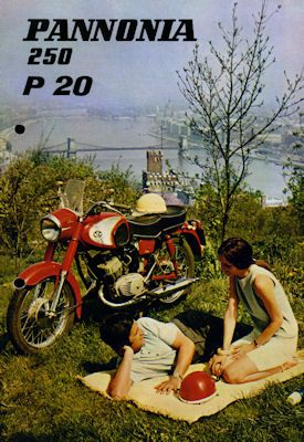 Pannonia 250 P 20 Prospekt ca. 1970 0