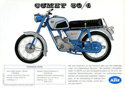 KTM Comet 50/4 Prospekt ca. 1970 0