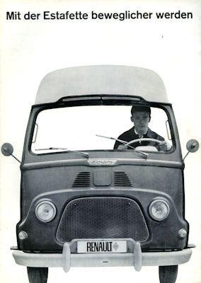 Renault Estafette Prospekt 1960er Jahre 0