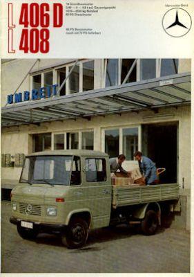 Mercedes-Benz L 406 D 408 Prospekt 11.1971 0