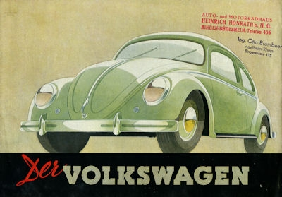 VW Käfer Typ 11 und 11a Prospekt ca. 1950 0