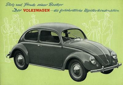 VW Käfer Typ 11 und 11a Prospekt ca. 1950 1