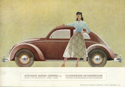 VW Käfer Typ 11 und 11a Prospekt ca. 1950 2