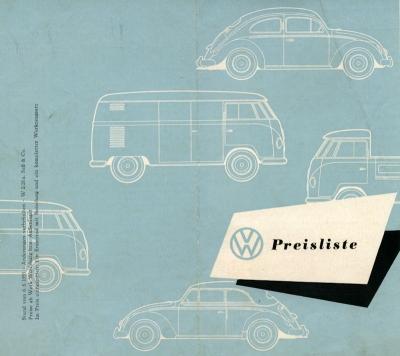 VW Preisliste 8.1955