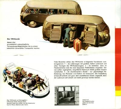 VW Bus / Transporter Prospekt 1950er Jahre 2