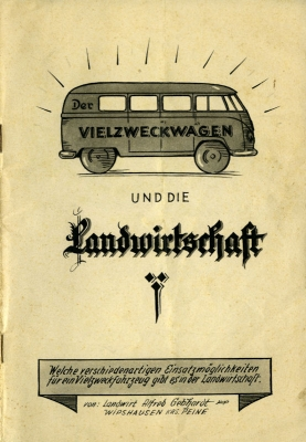 VW und die Landwirtschaft Broschüre 1950er Jahre 0