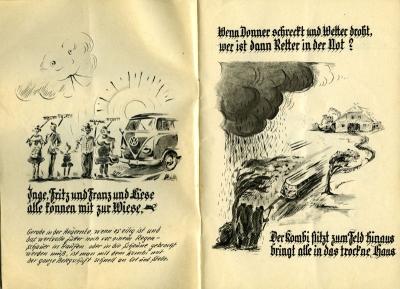 VW und die Landwirtschaft Broschüre 1950er Jahre 1