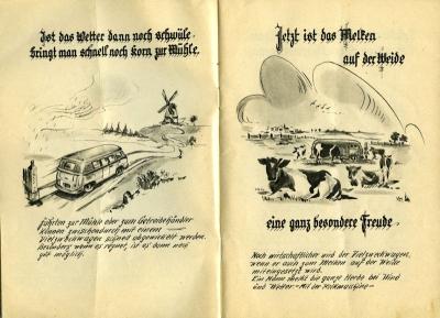 VW und die Landwirtschaft Broschüre 1950er Jahre 2