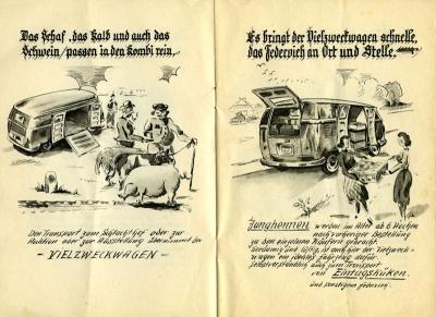 VW und die Landwirtschaft Broschüre 1950er Jahre 5