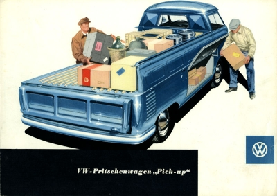 VW Pritschenwagen Pick up Prospekt ca. 1954