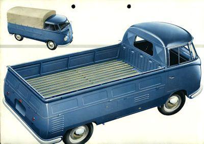 VW Pritschenwagen Pick up Prospekt ca. 1954 1