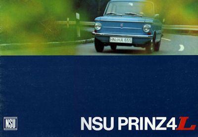 NSU Prinz 4 L Prospekt 11.1966 0