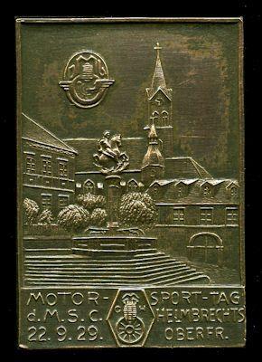 Plakette Helmbrechts 22.9.1929 0