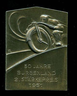 Plakette Burgenland, Östereich 1951 0