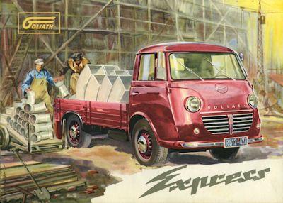 Goliath Express Prospekt ca. 1954