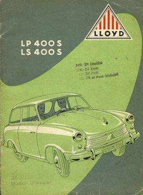 Lloyd LP 400 S und LS 400 S Prospekt ca. 1954 0