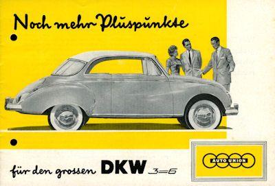 DKW 3=6 Prospekt ca. 1958