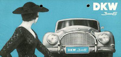 DKW 3=6 Prospekt 1957 0