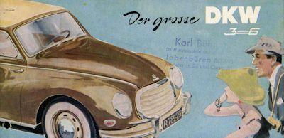 DKW 3=6 Prospekt 1955-59