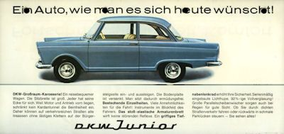 DKW Junior Prospekt ca. 1958