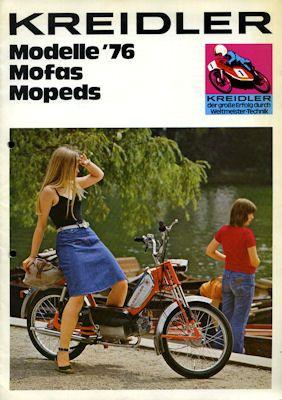 Kreidler Programm Mofa Mopeds 1976 0