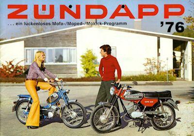 Zündapp Mofa Moped Mokick Programm 1976