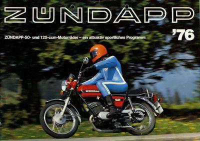 Zündapp 50 und 125ccm Motorrad Programm 1976 0