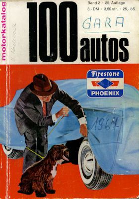 Motorkatalog 100 Autos Band 2 9.1967 0