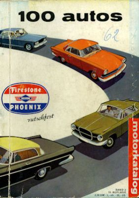 Motorkatalog 100 Autos Band 2 1962