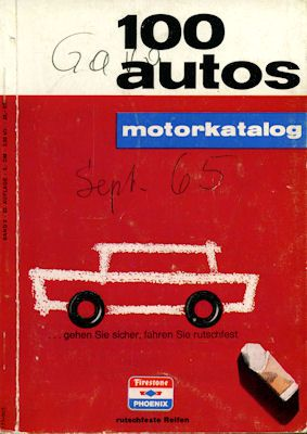 Motorkatalog 100 Autos Band 2 9.1965 0