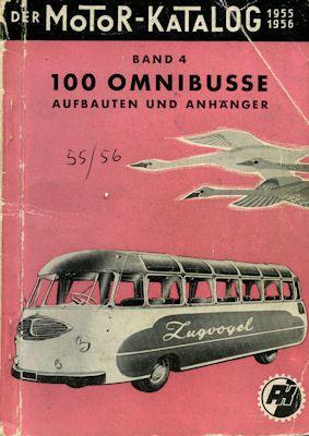 Motorkatalog 100 Omnibusse Band 4 1955/56